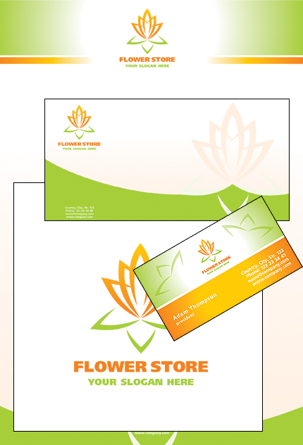Flowers website inspirations at your coffee break? Browse for more Corporate Identity #templates! // Regular price: $35 // Sources available: .PSD, .CDR #Flowers #Corporate Identity