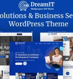 DreamIT IT Solutions Company Service WordPress Theme WordPress Theme