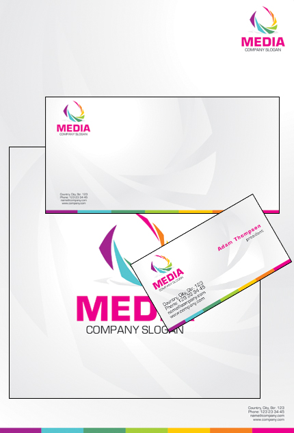 Media website inspirations at your coffee break? Browse for more Corporate Identity #templates! // Regular price: $35 // Sources available: .PSD, .CDR #Media #Corporate Identity