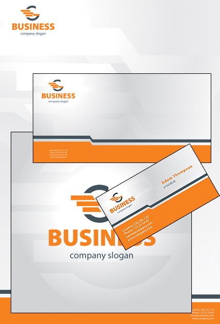 Business website inspirations at your coffee break? Browse for more Corporate Identity #templates! // Regular price: $35 // Sources available: .PSD, .CDR #Business #Corporate Identity