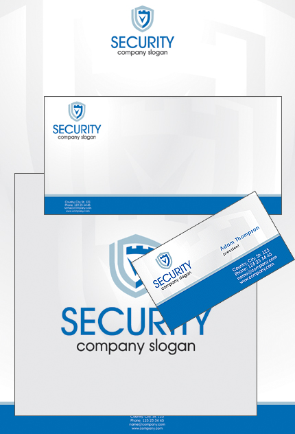 Security website inspirations at your coffee break? Browse for more Corporate Identity #templates! // Regular price: $35 // Sources available: .PSD, .CDR #Security #Corporate Identity
