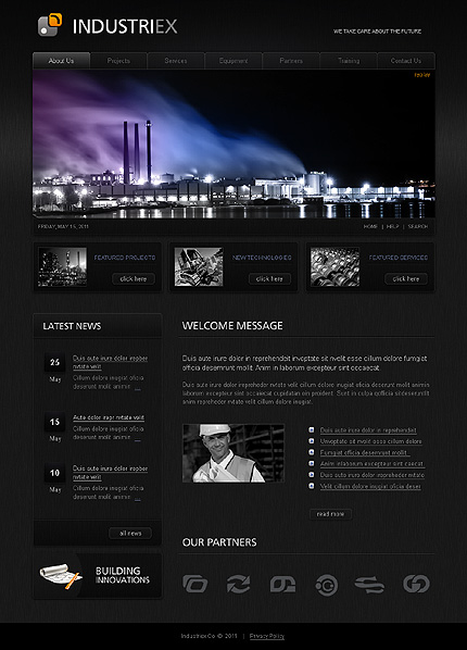 Industrial CSS Swish Animated Wide Templates SWiSHmax3 Templates website inspirations at your coffee break? Browse for more SWiSH Animated #templates! // Regular price: $59 // Sources available:.SWF,  .HTML,  .PSD, .SWI #Industrial #CSS #Swish Animated #Wide Templates #SWiSHmax3 Templates #SWiSH Animated