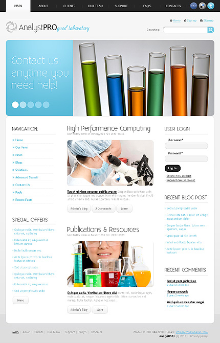 Science Most Popular Wide Templates Drupal Templates website inspirations at your coffee break? Browse for more Drupal #templates! // Regular price: $64 // Sources available: .PSD, .PHP #Science #Most Popular #Wide Templates #Drupal Templates #Drupal