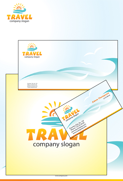 Travel Full package Templates website inspirations at your coffee break? Browse for more Corporate Identity #templates! // Regular price: $35 // Sources available: .PSD, .CDR #Travel #Full package Templates #Corporate Identity
