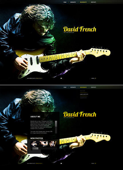 Music Personal Pages Dynamic Flash Premium Templates XML Flash Site Wide Templates website inspirations at your coffee break? Browse for more Flash CMS Template #templates! // Regular price: $99 // Sources available:.SWF, .FLA, .XFL #Music #Personal Pages #Dynamic Flash #Premium Templates #XML Flash Site #Wide Templates #Flash CMS Template