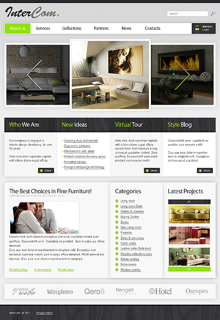 Interior & Furniture Most Popular Wide Templates Drupal Templates website inspirations at your coffee break? Browse for more Drupal #templates! // Regular price: $64 // Sources available:.SWF,  .PSD, .FLA, .PHP #Interior & Furniture #Most Popular #Wide Templates #Drupal Templates #Drupal