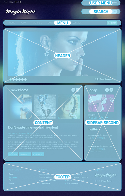 Society & Culture Night Club Most Popular Wide Templates Drupal Templates website inspirations at your coffee break? Browse for more Drupal #templates! // Regular price: $65 // Sources available: .PSD, .PHP #Society & Culture #Night Club #Most Popular #Wide Templates #Drupal Templates #Drupal