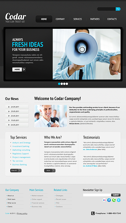 Business Wide Templates Drupal Templates website inspirations at your coffee break? Browse for more Drupal #templates! // Regular price: $68 // Sources available: .PSD, .PHP #Business #Wide Templates #Drupal Templates #Drupal