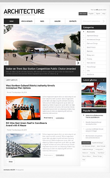 Architecture Most Popular Wide Templates Drupal Templates website inspirations at your coffee break? Browse for more Drupal #templates! // Regular price: $65 // Sources available: .PSD, .PHP #Architecture #Most Popular #Wide Templates #Drupal Templates #Drupal