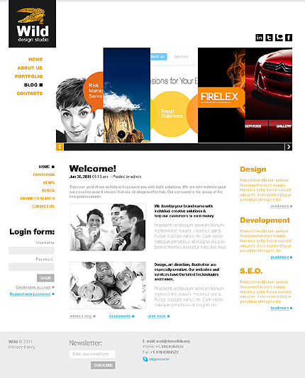 Web Design Wide Templates Drupal Templates website inspirations at your coffee break? Browse for more Drupal #templates! // Regular price: $65 // Sources available: .PSD, .PHP #Web Design #Wide Templates #Drupal Templates #Drupal