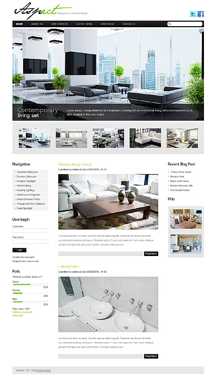 Interior & Furniture Most Popular Wide Templates Drupal Templates website inspirations at your coffee break? Browse for more Drupal #templates! // Regular price: $65 // Sources available: .PSD, .PHP #Interior & Furniture #Most Popular #Wide Templates #Drupal Templates #Drupal
