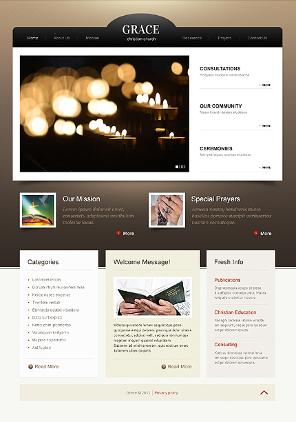 Religious Zero Downloads website inspirations at your coffee break? Browse for more HTML5 JS Animated #templates! // Regular price: $61 // Sources available: .HTML,  .PSD #Religious #Zero Downloads #HTML5 JS Animated