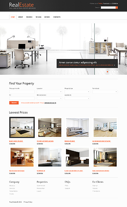 Real Estate Zero Downloads Most Popular website inspirations at your coffee break? Browse for more HTML5 JS Animated #templates! // Regular price: $64 // Sources available: .HTML,  .PSD #Real Estate #Zero Downloads #Most Popular #HTML5 JS Animated