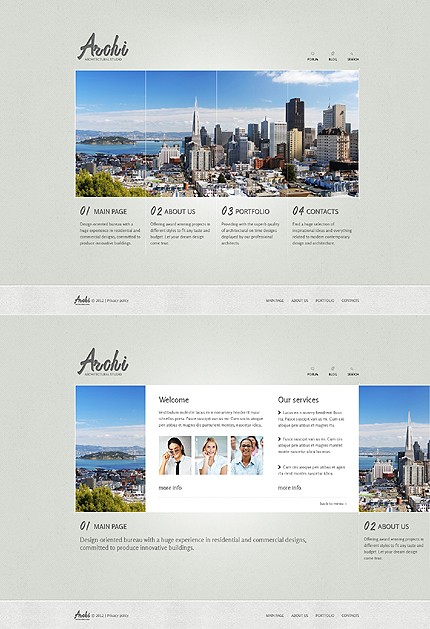 Architecture Zero Downloads website inspirations at your coffee break? Browse for more JavaScript Based #templates! // Regular price: $67 // Sources available: .HTML,  .PSD #Architecture #Zero Downloads #JavaScript Based