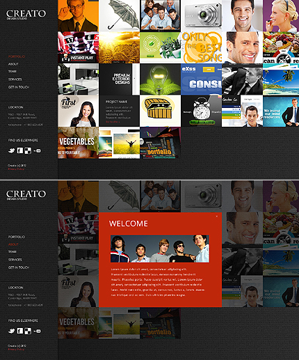 Web Design Zero Downloads website inspirations at your coffee break? Browse for more JavaScript Based #templates! // Regular price: $66 // Sources available: .HTML,  .PSD #Web Design #Zero Downloads #JavaScript Based