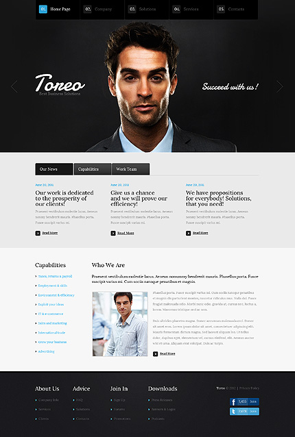 Business Zero Downloads website inspirations at your coffee break? Browse for more HTML5 JS Animated #templates! // Regular price: $65 // Sources available: .HTML,  .PSD, No flv video source files are provided for an intro page; #Business #Zero Downloads #HTML5 JS Animated