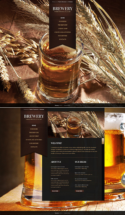 Most Popular Brewery Templates website inspirations at your coffee break? Browse for more HTML5 JS Animated #templates! // Regular price: $65 // Sources available: .HTML,  .PSD #Most Popular #Brewery Templates #HTML5 JS Animated