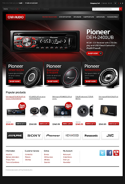 Car Sound Store OpenCart Template - OpenCart Community
