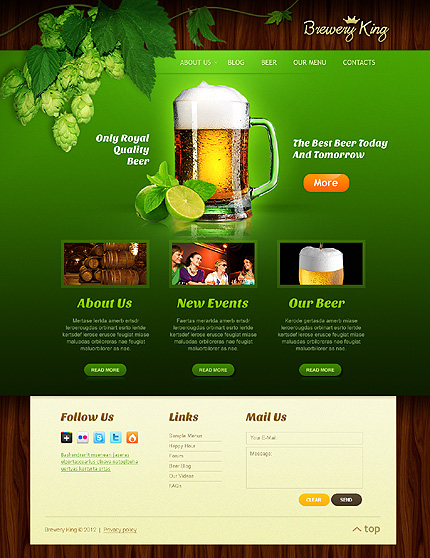 Brewery Templates website inspirations at your coffee break? Browse for more Flash Animated #templates! // Regular price: $63 // Sources available:.SWF,  .HTML,  .PSD, .FLA #Brewery Templates #Flash Animated