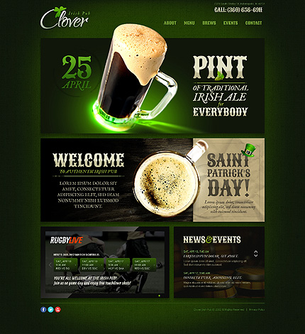 Brewery Templates website inspirations at your coffee break? Browse for more HTML5 JS Animated #templates! // Regular price: $64 // Sources available: .HTML,  .PSD #Brewery Templates #HTML5 JS Animated