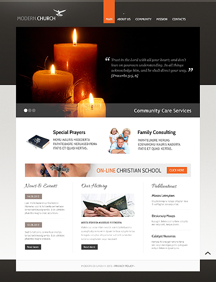 Religious Most Popular website inspirations at your coffee break? Browse for more HTML5 JS Animated #templates! // Regular price: $63 // Sources available: .HTML,  .PSD #Religious #Most Popular #HTML5 JS Animated