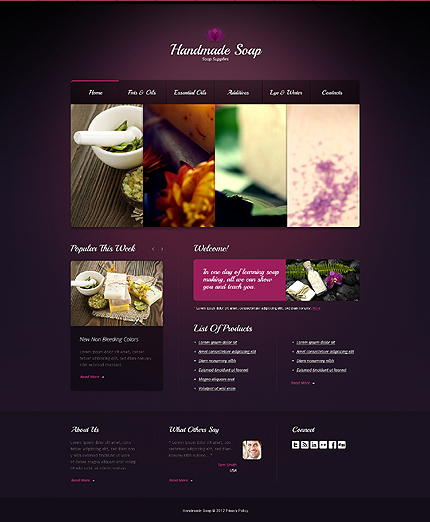 Most Popular Hobbies & Crafts website inspirations at your coffee break? Browse for more HTML5 JS Animated #templates! // Regular price: $63 // Sources available: .HTML,  .PSD #Most Popular #Hobbies & Crafts #HTML5 JS Animated