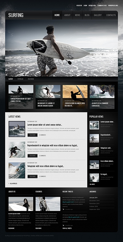 Sport Most Popular website inspirations at your coffee break? Browse for more Moto CMS HTML #templates! // Regular price: $139 // Sources available:<b>Sources Not Included</b> #Sport #Most Popular #Moto CMS HTML