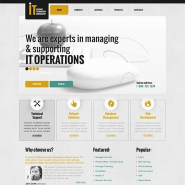 Website Template # 40505