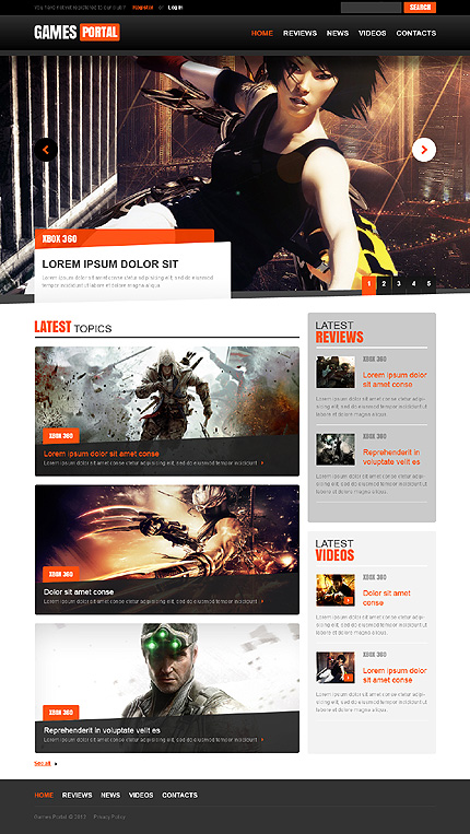 Games Most Popular website inspirations at your coffee break? Browse for more JS Animated Template #templates! // Regular price: $64 // Sources available: .HTML,  .PSD #Games #Most Popular #JS Animated Template