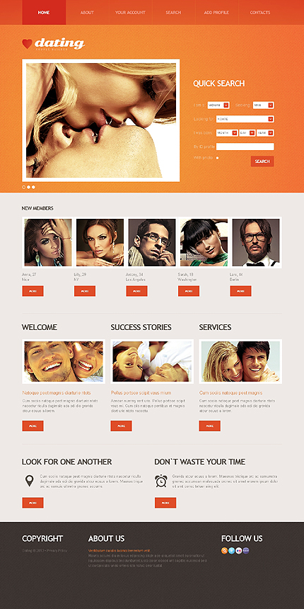 Dating Most Popular website inspirations at your coffee break? Browse for more HTML5 JS Animated #templates! // Regular price: $64 // Sources available: .HTML,  .PSD #Dating #Most Popular #HTML5 JS Animated