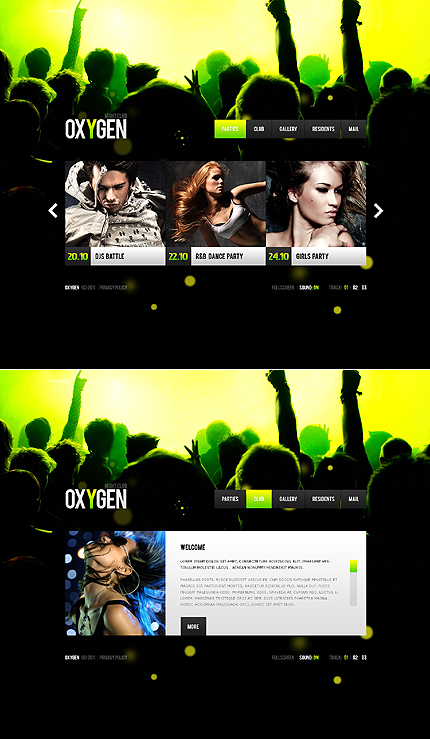 Night Club website inspirations at your coffee break? Browse for more Flash CMS Template #templates! // Regular price: $99 // Sources available:.XFL #Night Club #Flash CMS Template
