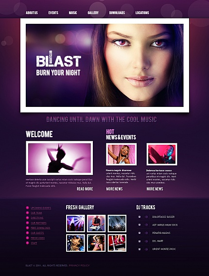 Night Club website inspirations at your coffee break? Browse for more Moto CMS HTML #templates! // Regular price: $139 // Sources available:<b>Sources Not Included</b> #Night Club #Moto CMS HTML