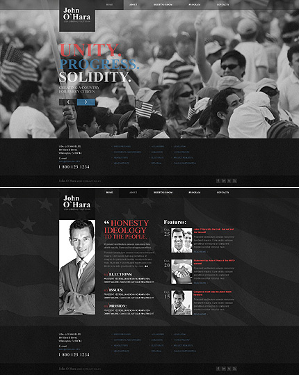 Politics Most Popular website inspirations at your coffee break? Browse for more JavaScript Based #templates! // Regular price: $67 // Sources available: .HTML,  .PSD #Politics #Most Popular #JavaScript Based
