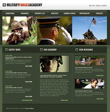Military website inspirations at your coffee break? Browse for more Moto CMS HTML #templates! // Regular price: $139 // Sources available:<b>Sources Not Included</b> #Military #Moto CMS HTML