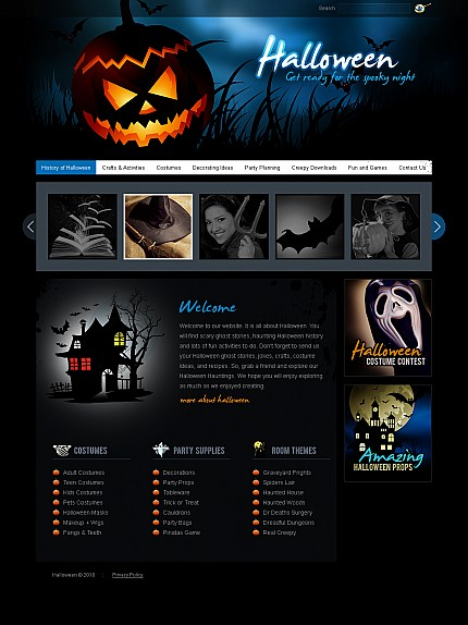 Halloween Templates website inspirations at your coffee break? Browse for more Stretched Flash CMS Theme #templates! // Regular price: $99 // Sources available:.XFL #Halloween Templates #Stretched Flash CMS Theme