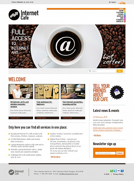 Internet website inspirations at your coffee break? Browse for more Stretched Flash CMS Theme #templates! // Regular price: $99 // Sources available:.XFL #Internet #Stretched Flash CMS Theme