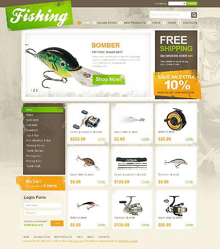 макет для рыболовного сайта