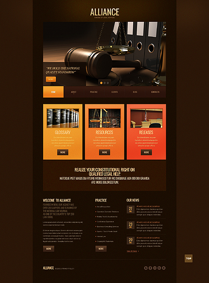 Law Most Popular website inspirations at your coffee break? Browse for more PRO Website #templates! // Regular price: $75 // Sources available: .HTML,  .PSD #Law #Most Popular #PRO Website