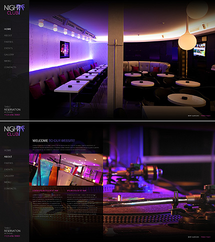 Night Club Most Popular website inspirations at your coffee break? Browse for more JavaScript Based #templates! // Regular price: $67 // Sources available: .HTML,  .PSD #Night Club #Most Popular #JavaScript Based