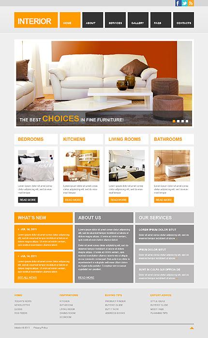 Сайт по дизайну мебели