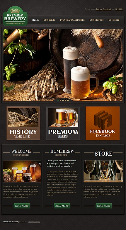 Brewery Templates website inspirations at your coffee break? Browse for more Facebook HTML CMS Template #templates! // Regular price: $59 // Sources available:<b>Sources Not Included</b> #Brewery Templates #Facebook HTML CMS Template