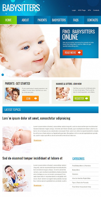 Family website inspirations at your coffee break? Browse for more Facebook HTML CMS Template #templates! // Regular price: $59 // Sources available:<b>Sources Not Included</b> #Family #Facebook HTML CMS Template