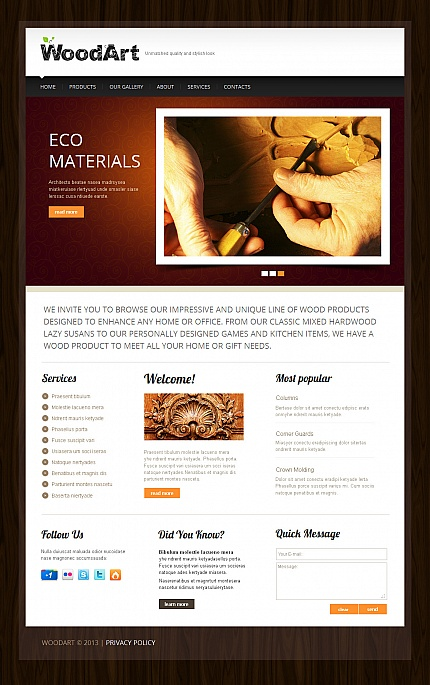 Most Popular Hobbies &amp; Crafts website inspirations at your coffee break? Browse for more Moto CMS HTML #templates! // Regular price: $139 // Sources available:<b>Sources Not Included</b> #Most Popular #Hobbies &amp; Crafts #Moto CMS HTML