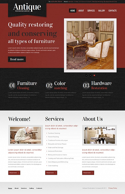 Antique Templates website inspirations at your coffee break? Browse for more Moto CMS HTML #templates! // Regular price: $139 // Sources available:<b>Sources Not Included</b> #Antique Templates #Moto CMS HTML