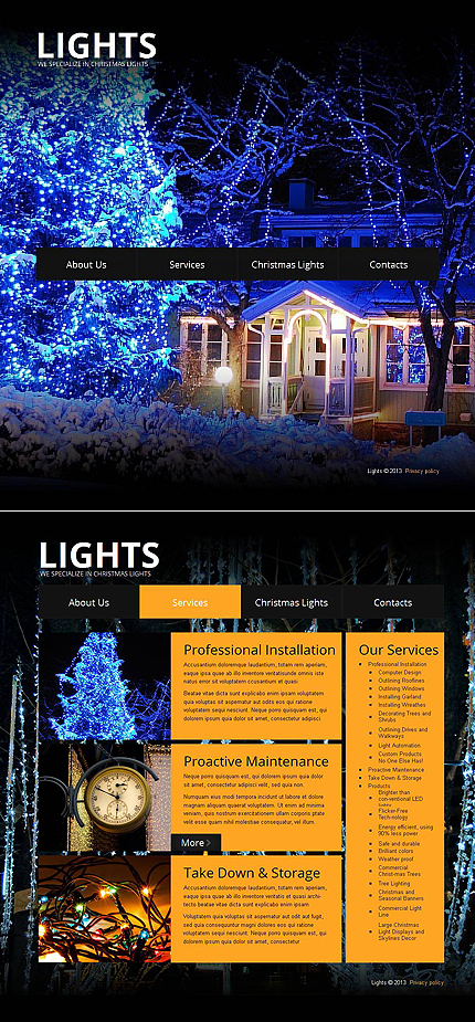 Christmas Templates website inspirations at your coffee break? Browse for more Moto CMS HTML #templates! // Regular price: $139 // Sources available:<b>Sources Not Included</b> #Christmas Templates #Moto CMS HTML