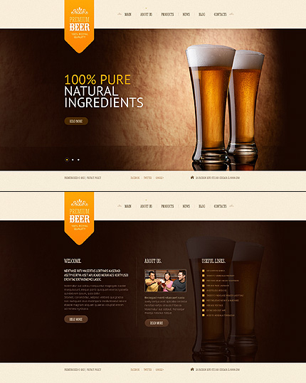 Most Popular Brewery Templates website inspirations at your coffee break? Browse for more JavaScript Based #templates! // Regular price: $67 // Sources available: .HTML,  .PSD #Most Popular #Brewery Templates #JavaScript Based