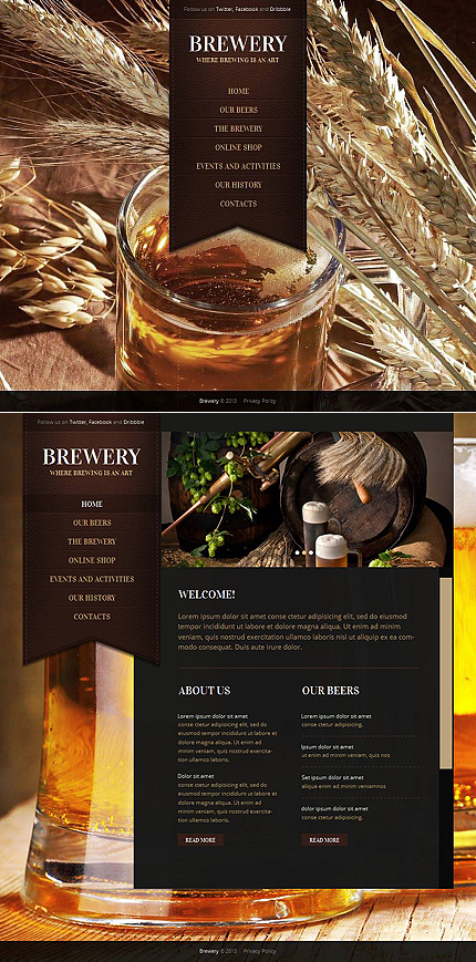 Most Popular Brewery Templates website inspirations at your coffee break? Browse for more Moto CMS HTML #templates! // Regular price: $139 // Sources available:<b>Sources Not Included</b> #Most Popular #Brewery Templates #Moto CMS HTML