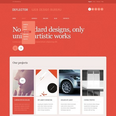 WordPress Theme # 43712