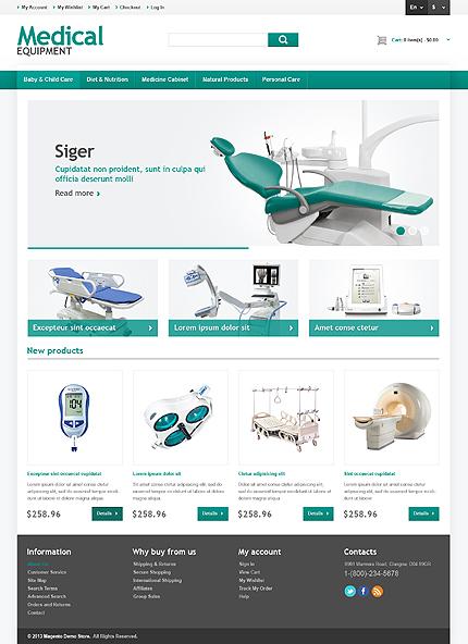 magento community templates - medical equipment store responsive magento theme