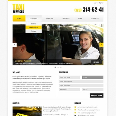 Website Template # 44004